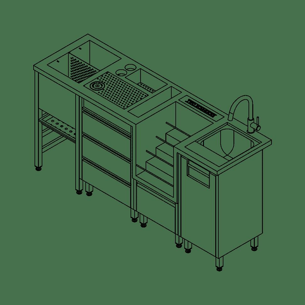 Two Schmucks - Line Drawing