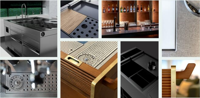 Mood board showing various bar designs
